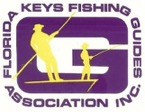 logo for florida keys fishing guide association